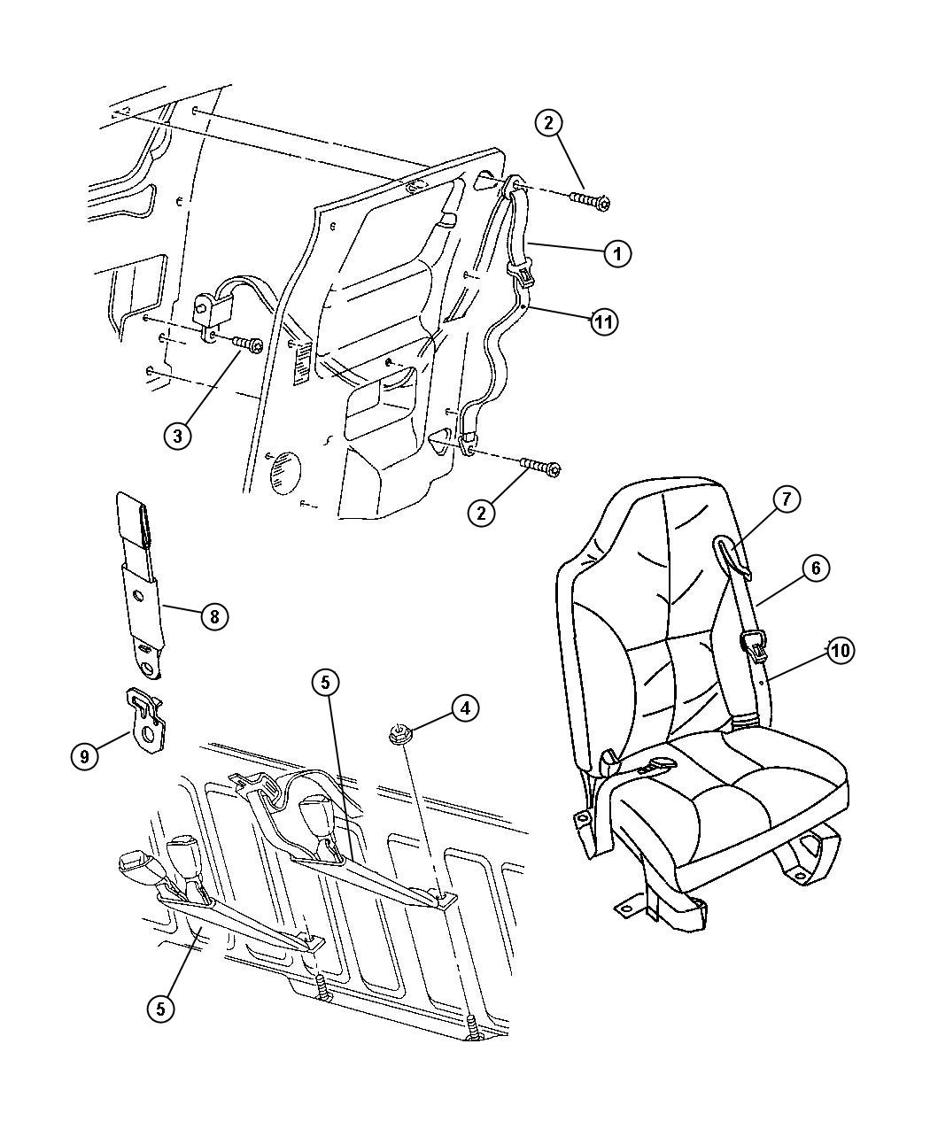 Dodge Ram Seat Belt Front Outer Left Az C3 Az