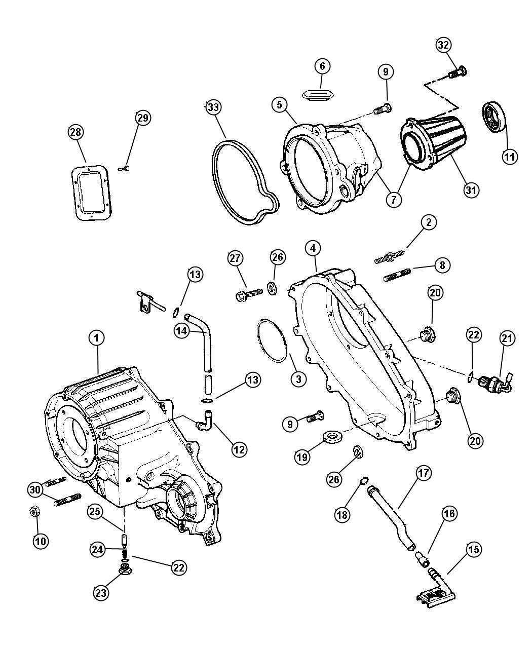Dodge Ram Seal Output Shaft Rear Dhr Dhu