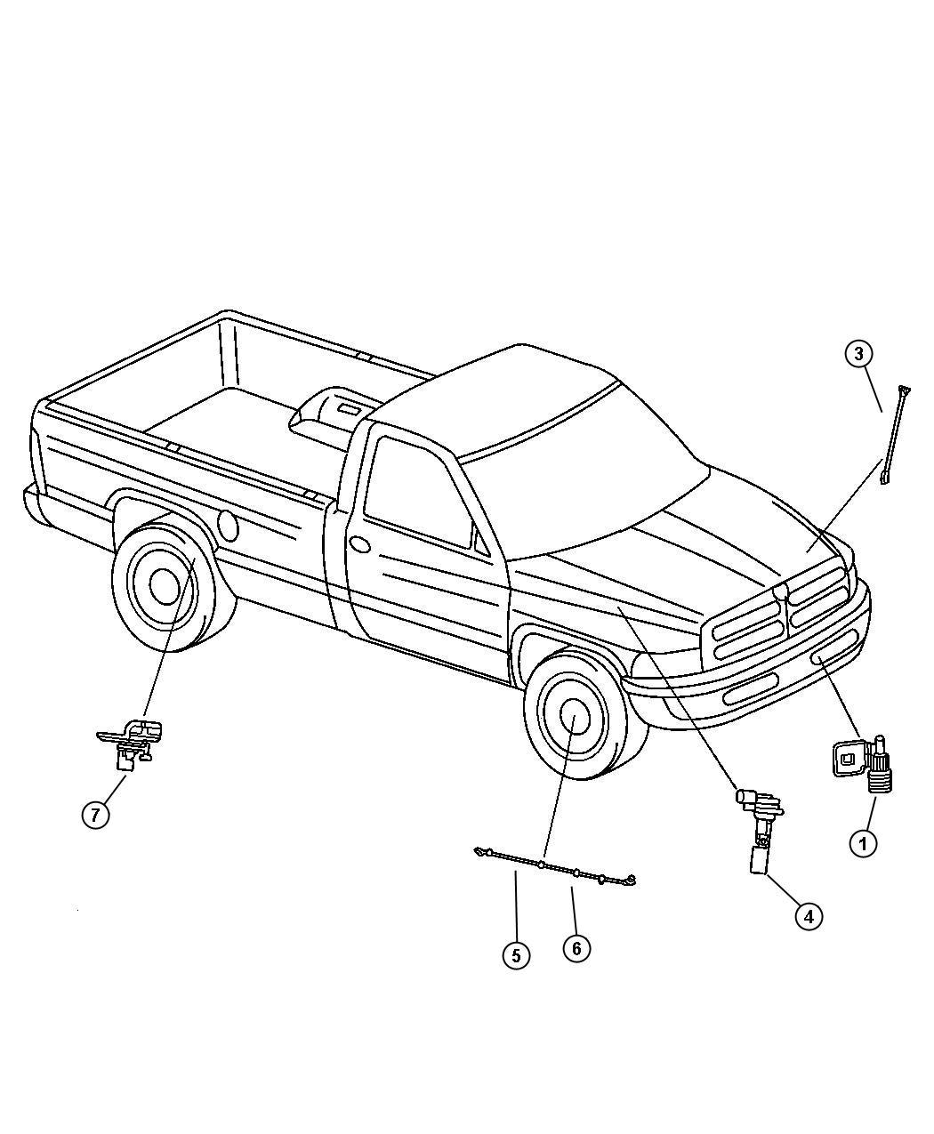 Dodge Ram Sensor Anti Lock Brakes Right Or