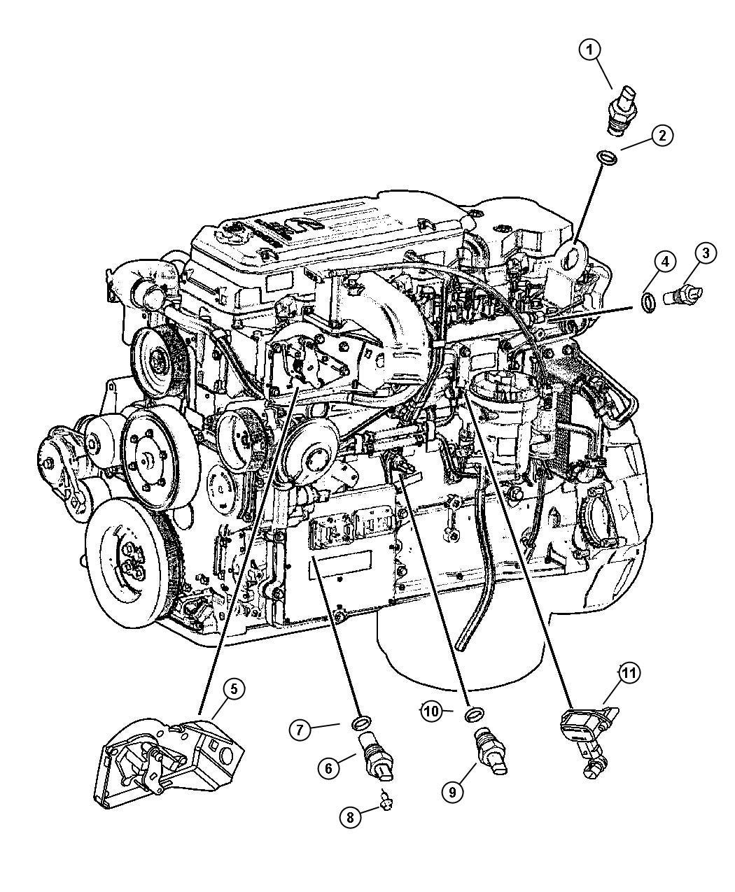 2007 Chrysler Crossfire Sensor. Air temperature. Diesel