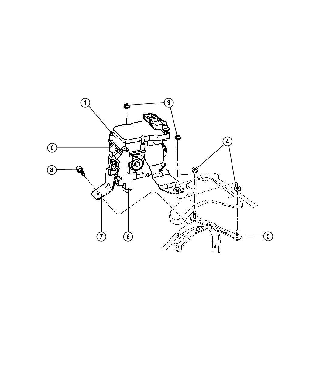 Dodge Ram Hydraulic Control Unit Anti Lock Brake