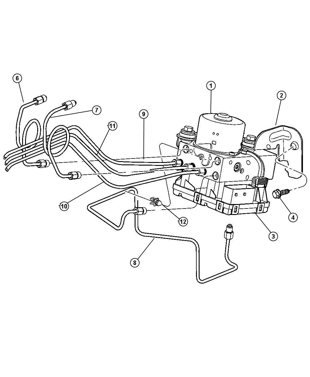 2008 Chrysler PT Cruiser Module. Anti-lock brake system