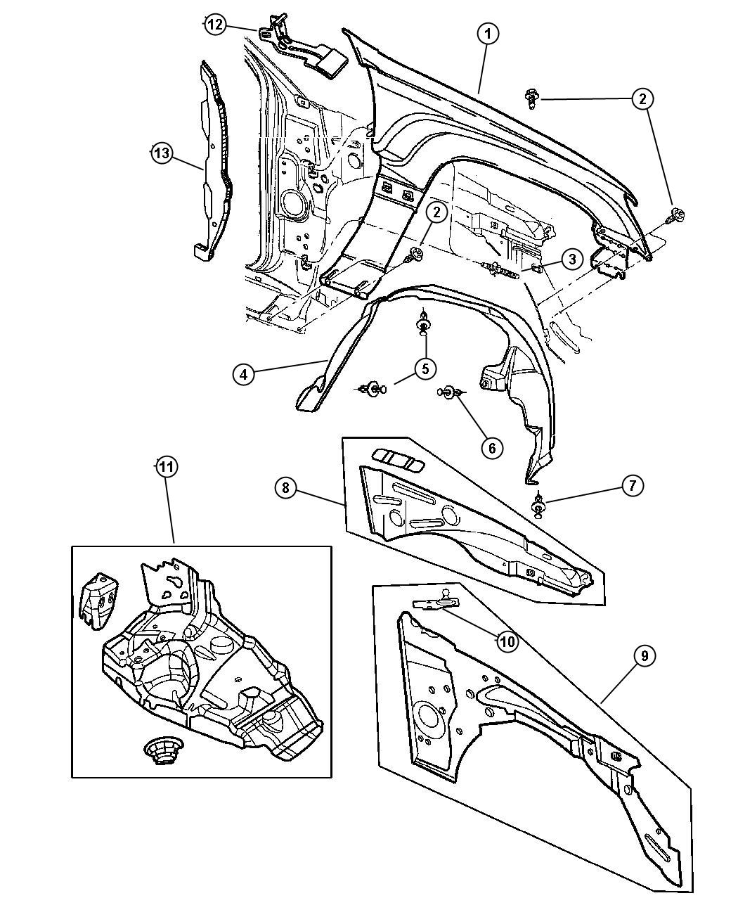 2009 Dodge Sprinter 2500 Support. Front suspension