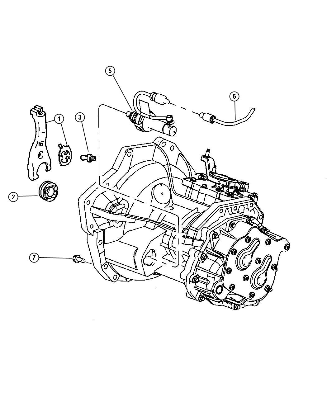 Chrysler Sebring Boot Seal Clutch Release Fork