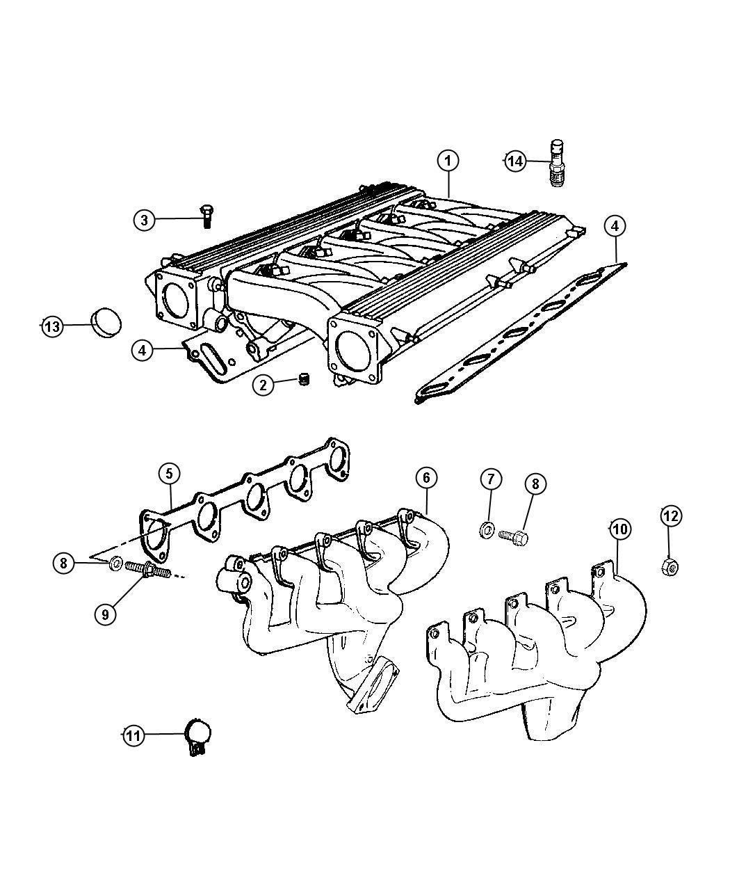 Dodge Viper Stud 312 18 312 24x2 12 Exhaust Manifold