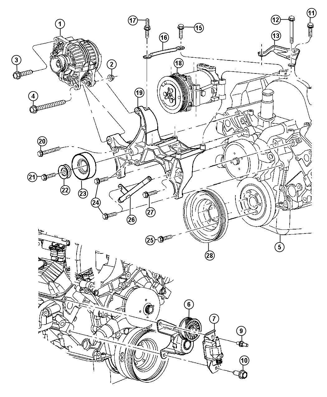 Dodge Ram Tensioner Belt Emissions