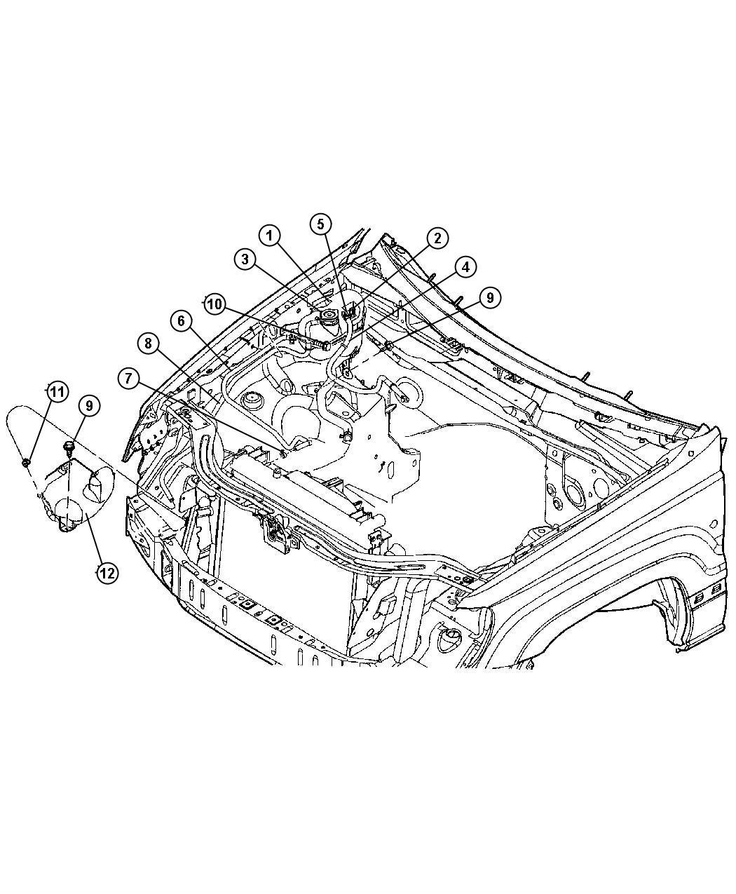 Jeep Wrangler Sensor Coolant Level