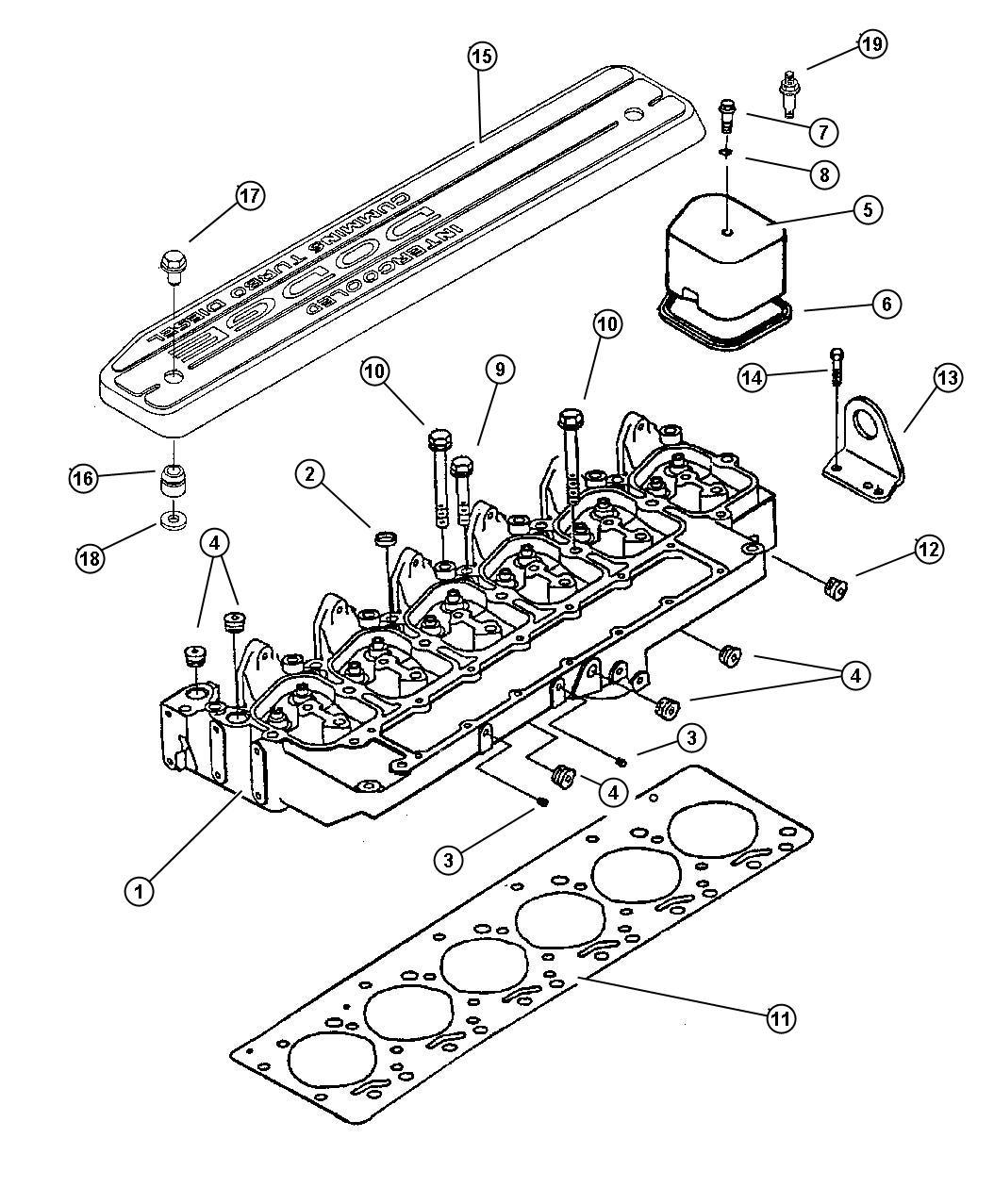 Chrysler Sebring Screw. Valve cover. Cylinder, emissions