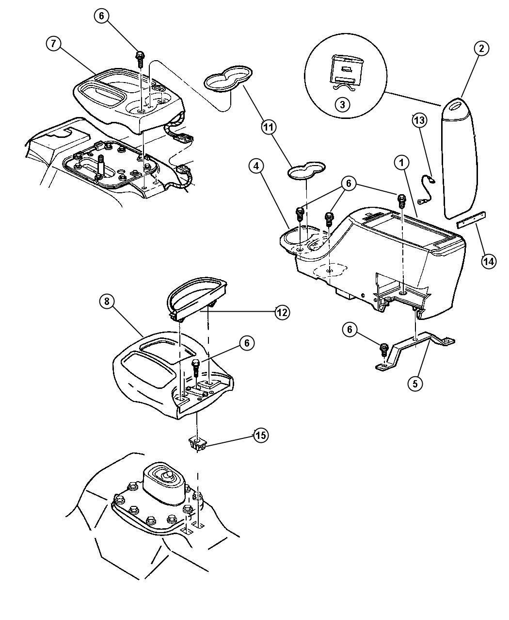 Dodge Dakota Indicator. Gear selector, prndl. Automatic