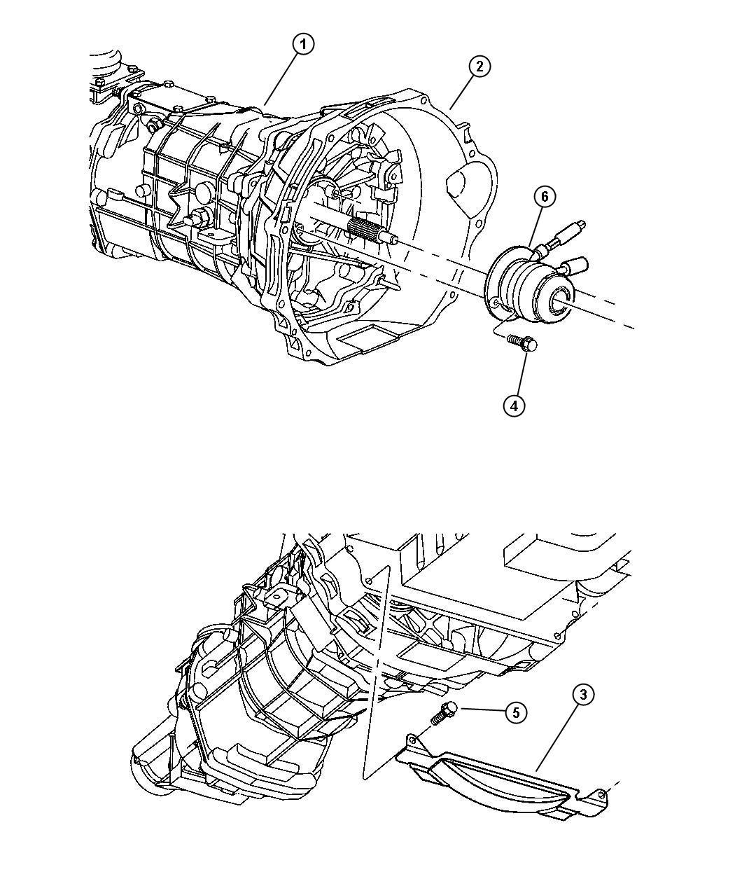 Dodge Viper Cylinder. Clutch slave. Concentric, bearing