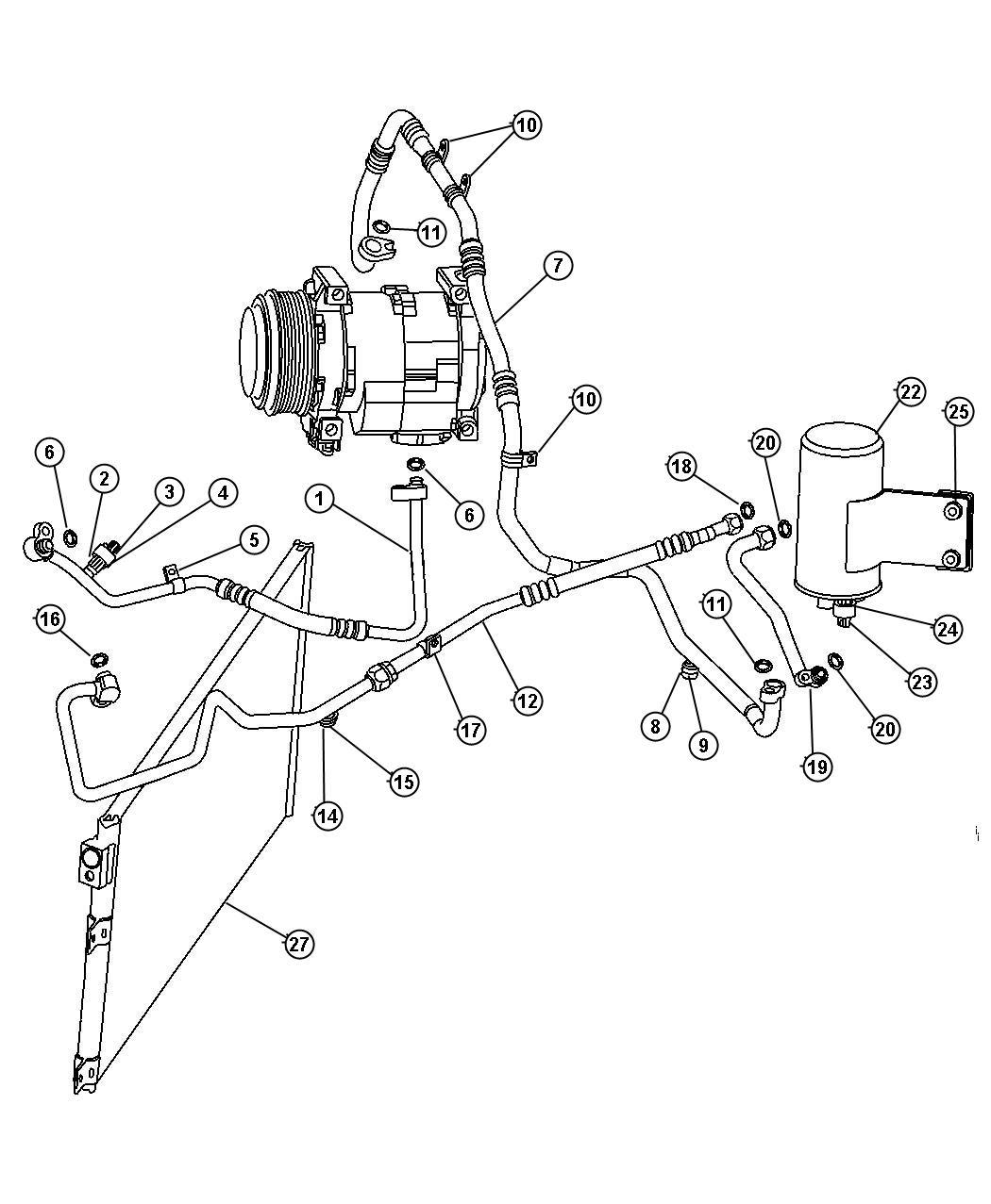 Dodge Viper Orifice. Liquid line. Up to 01-08-04. Air