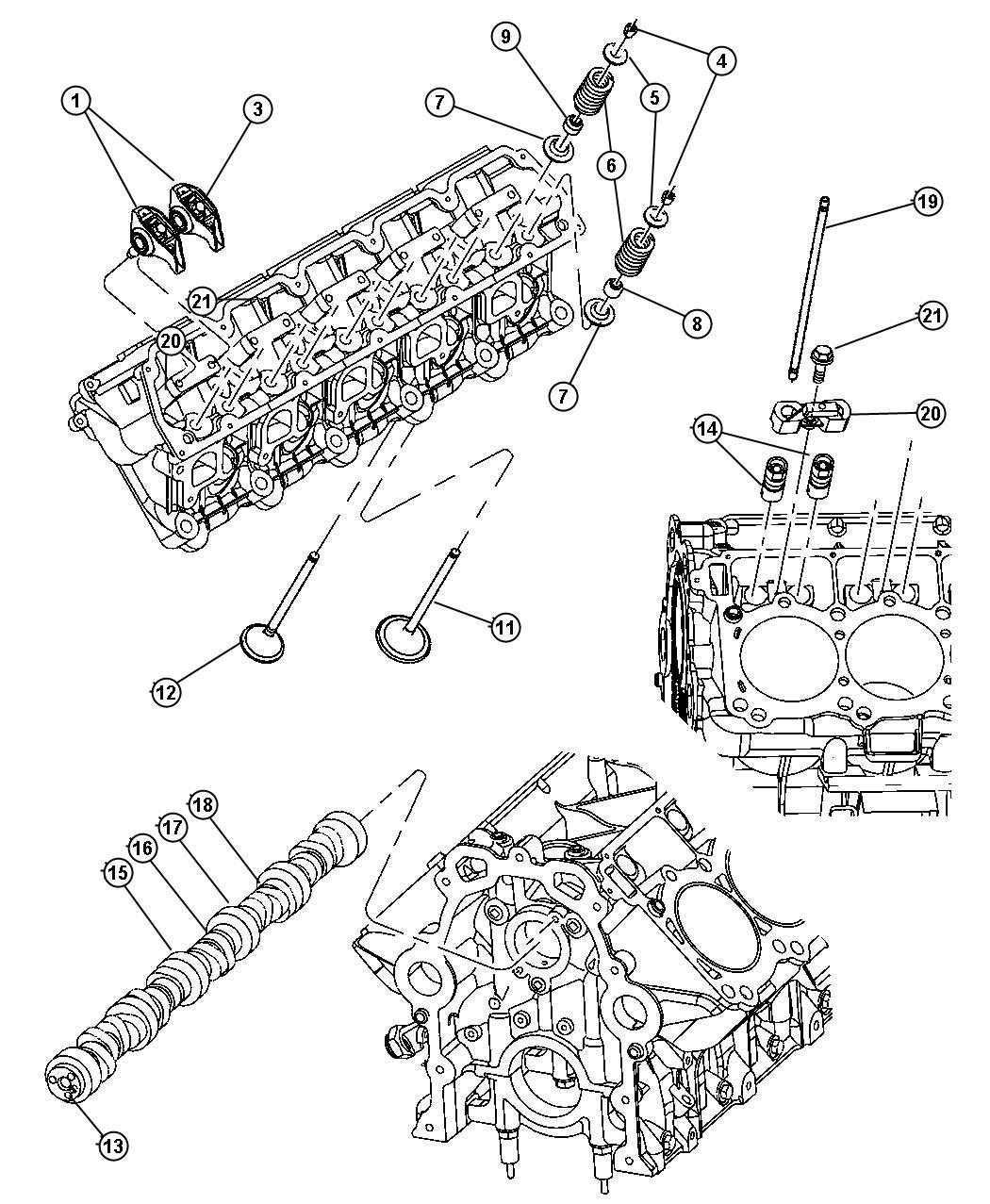 Dodge Viper Tappet. Hyd. Roller. Engine, camshafts, valves