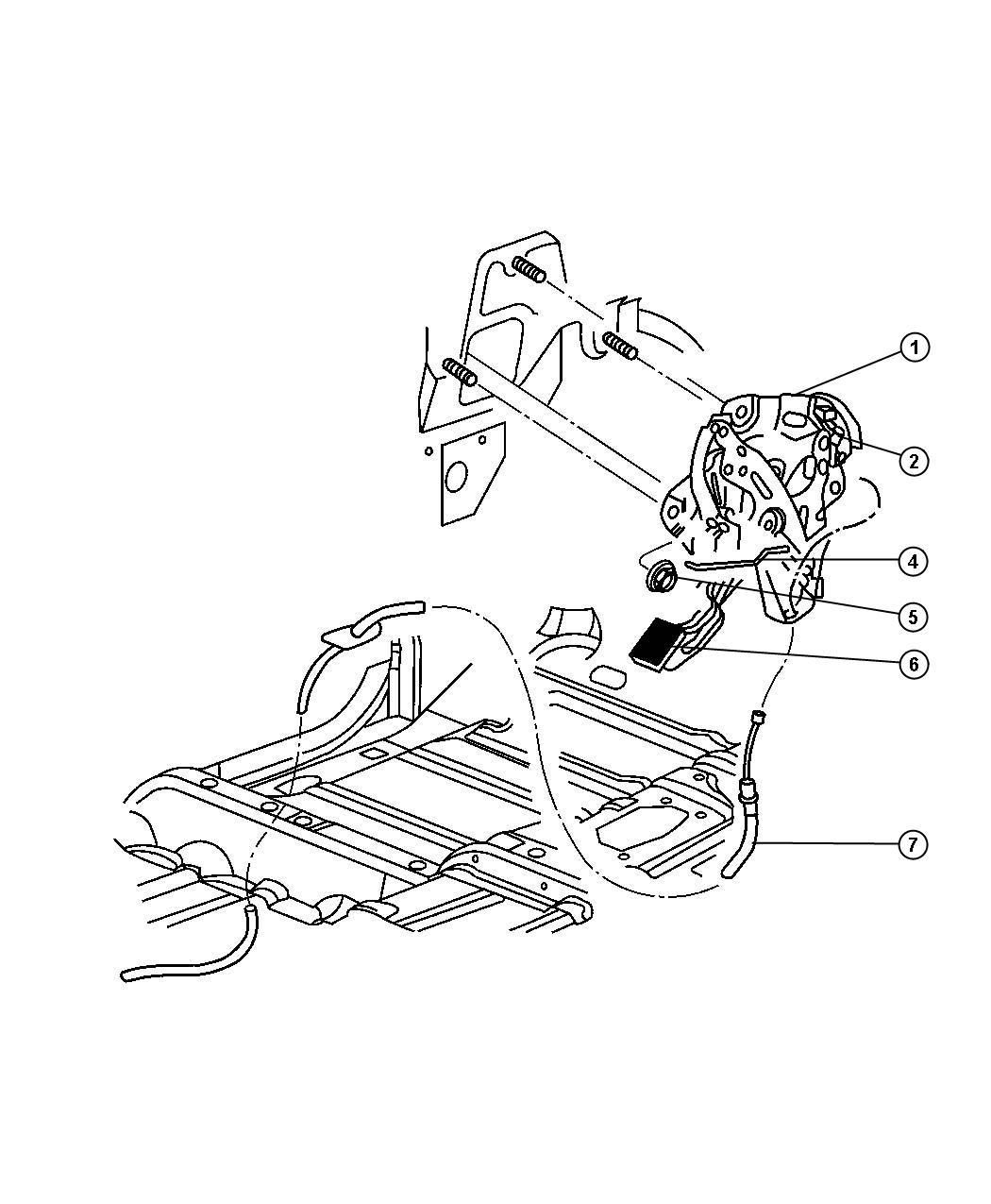 2003 Dodge Ram 1500 Handle. Parking brake. [dv], [dv