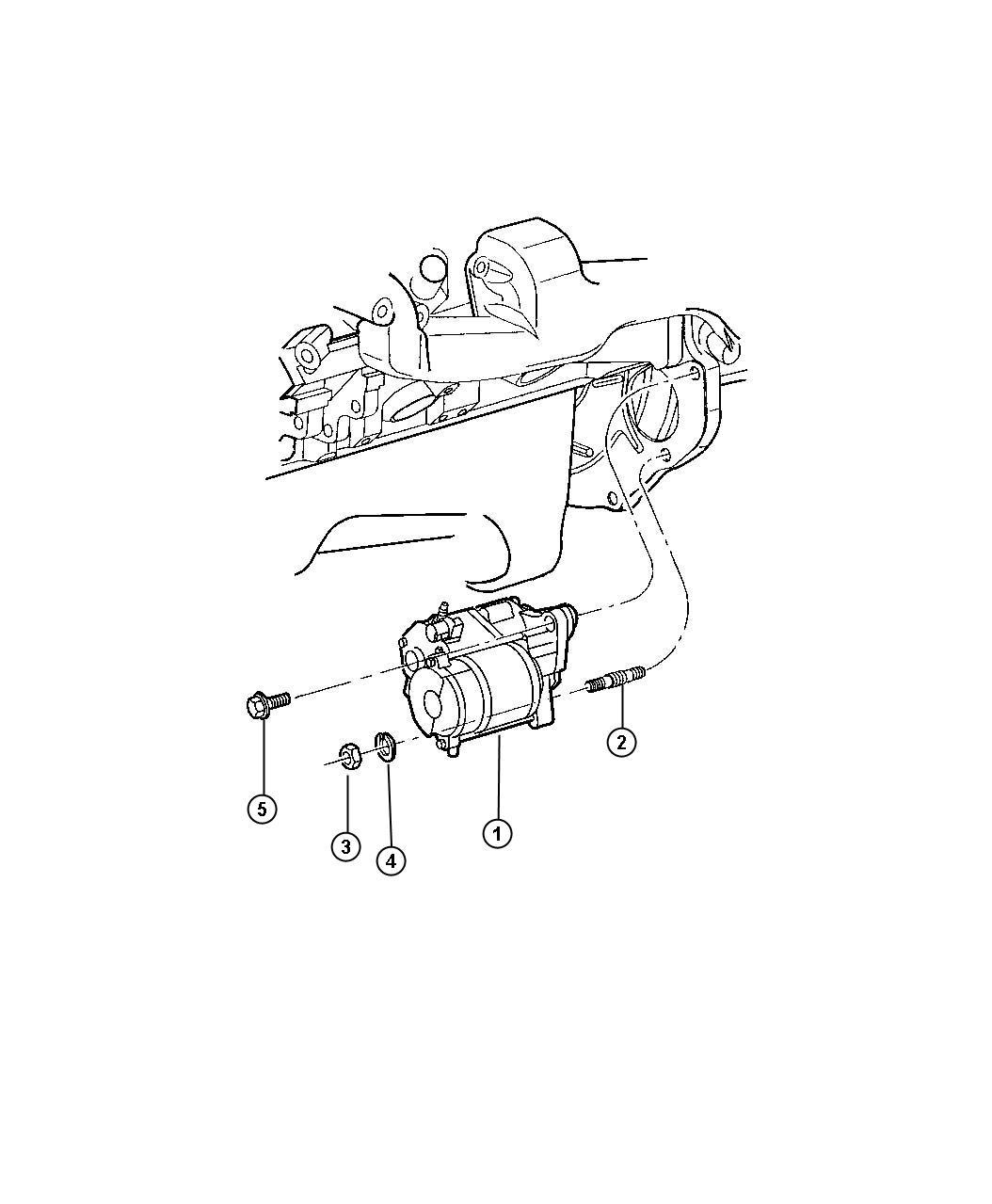2002 Dodge Intrepid Starter. Engine. Remanufactured