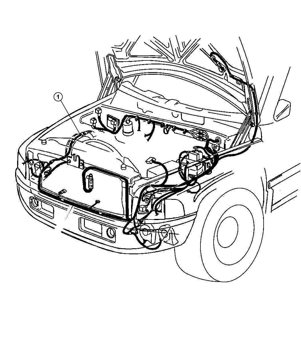 Dodge Ram 3500 Wiring. Headlamp to dash. Elec, disc, case