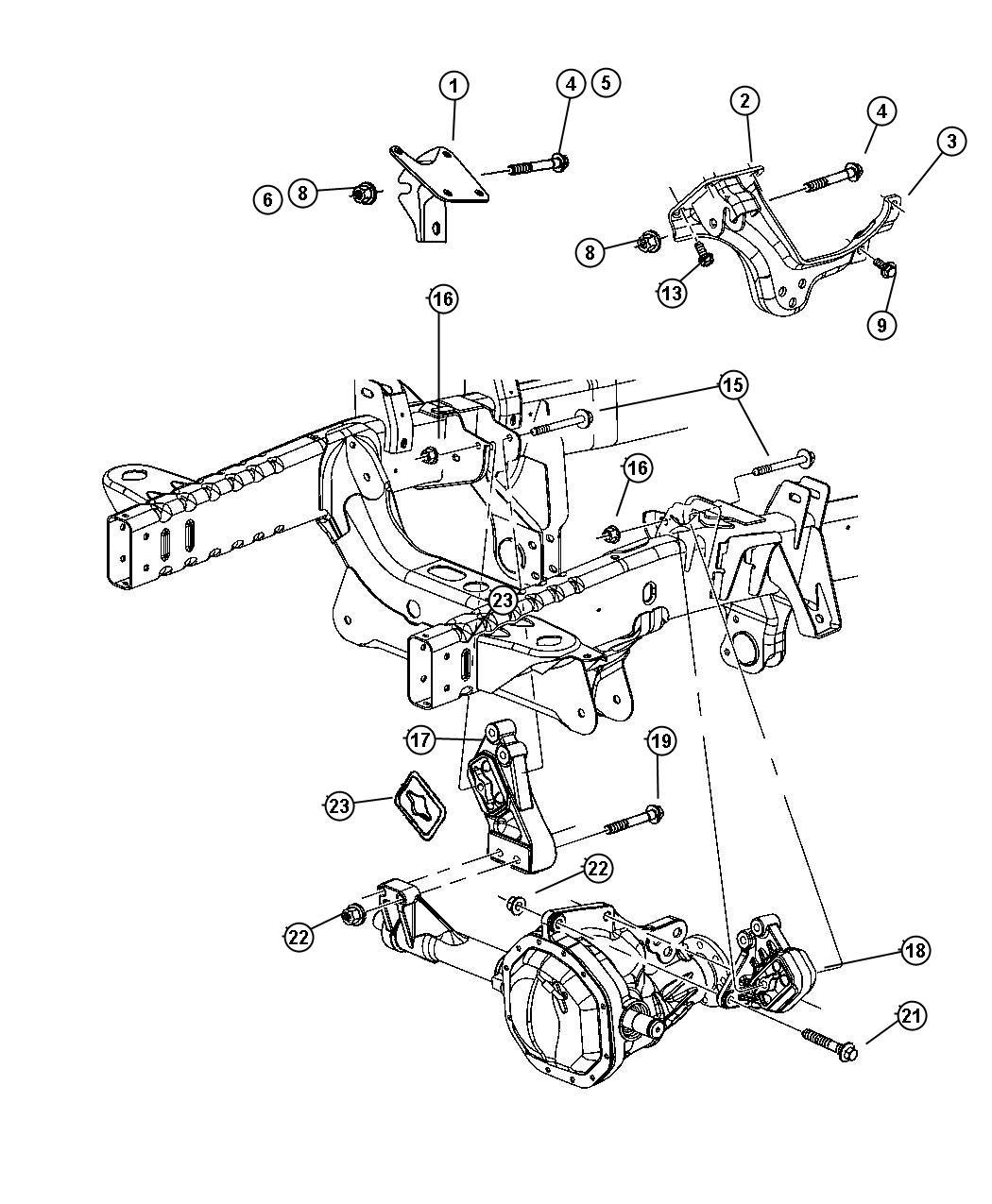 Dodge Ram Insulator Engine Mount For Ez0 Front