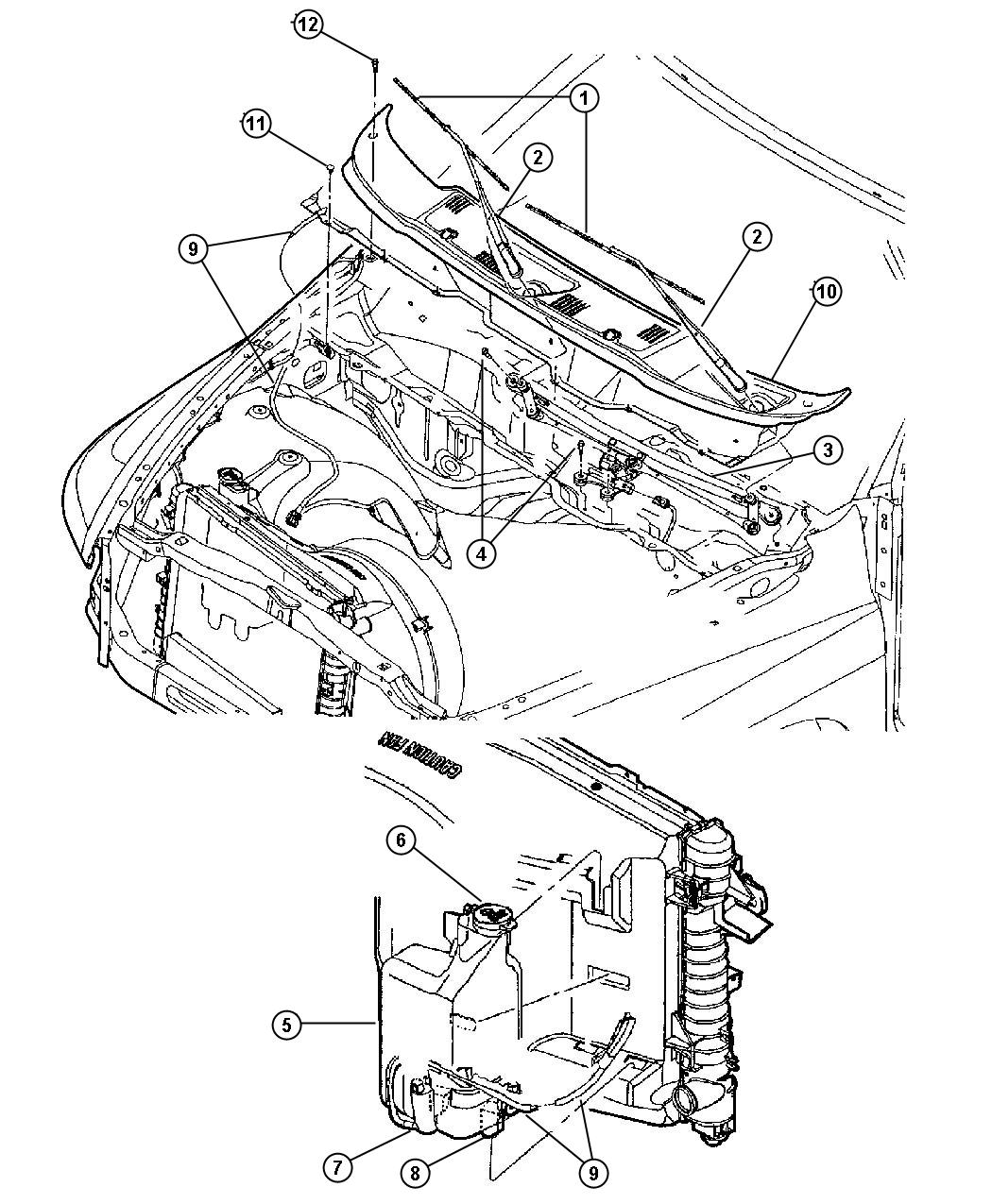 2003 Dodge Ram 2500 Module. Wiper. Windshield, washer