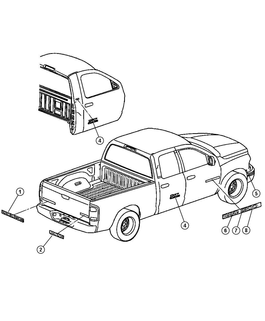 2009 Chrysler Aspen Decal kit. Body. Thunderroad hemi