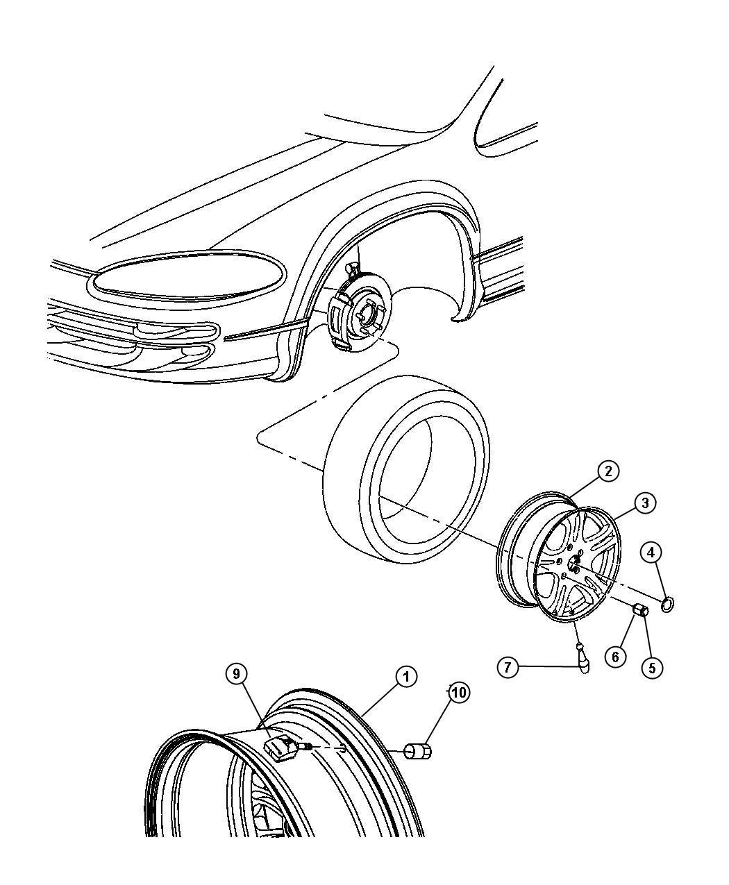 Dodge Durango Cap Wheel Center Wheels Chrome