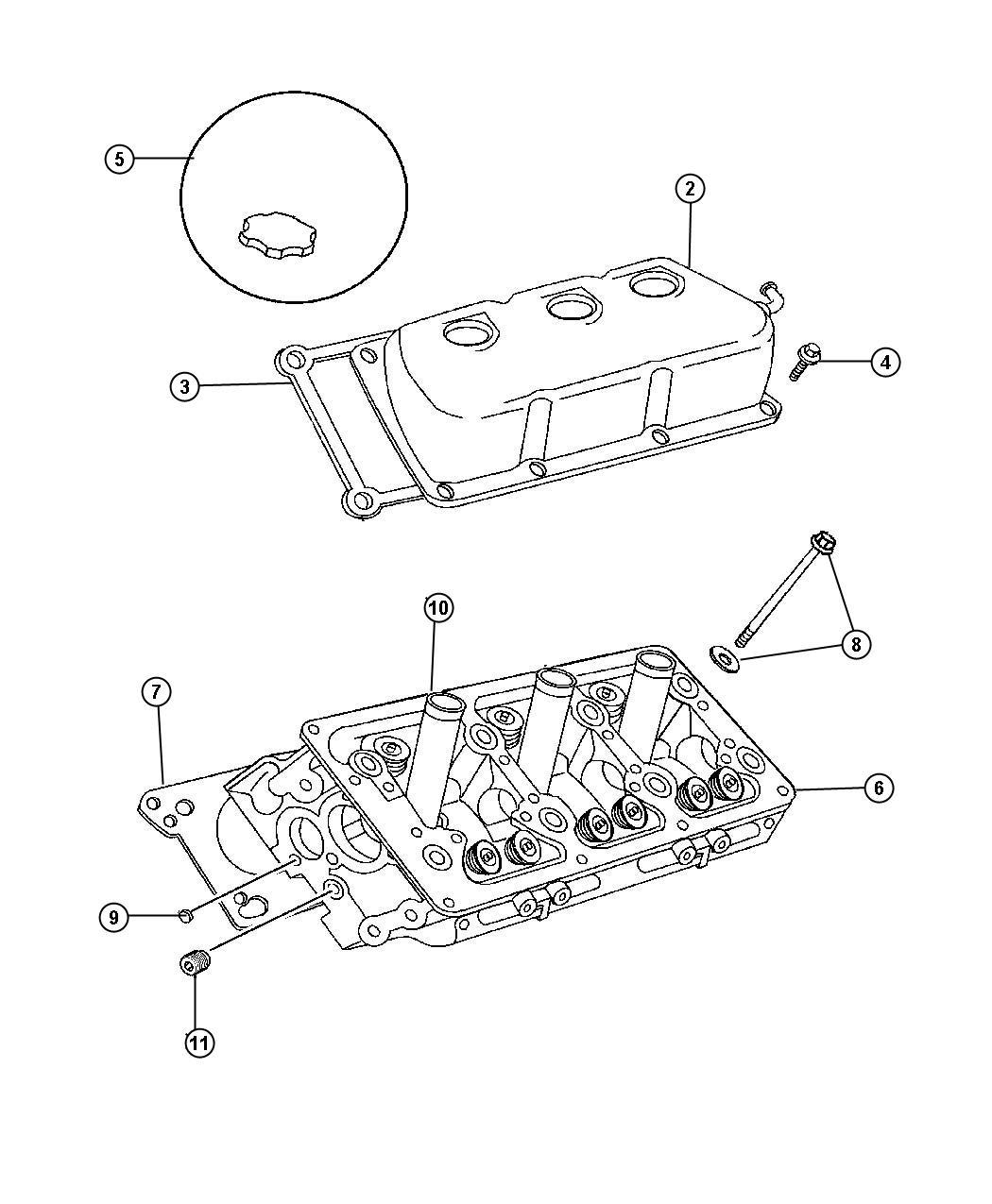 2003 Dodge Intrepid Plug. Hex socket. 3/8-18npt. Cylinder