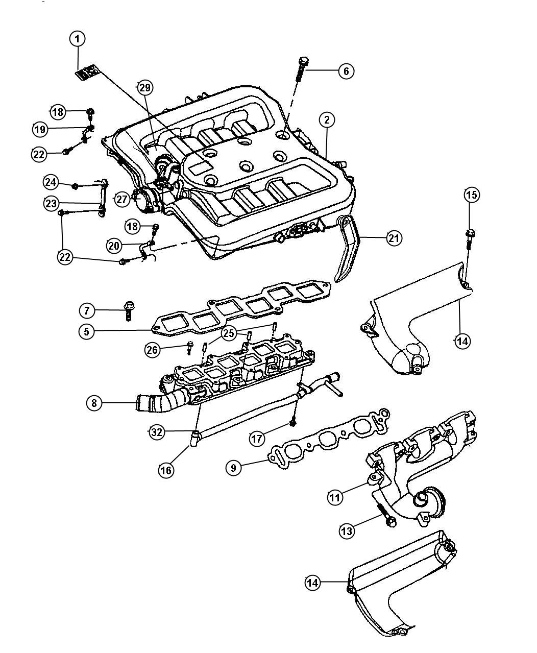 2010 Chrysler Town & Country Gasket. Cylinder head to