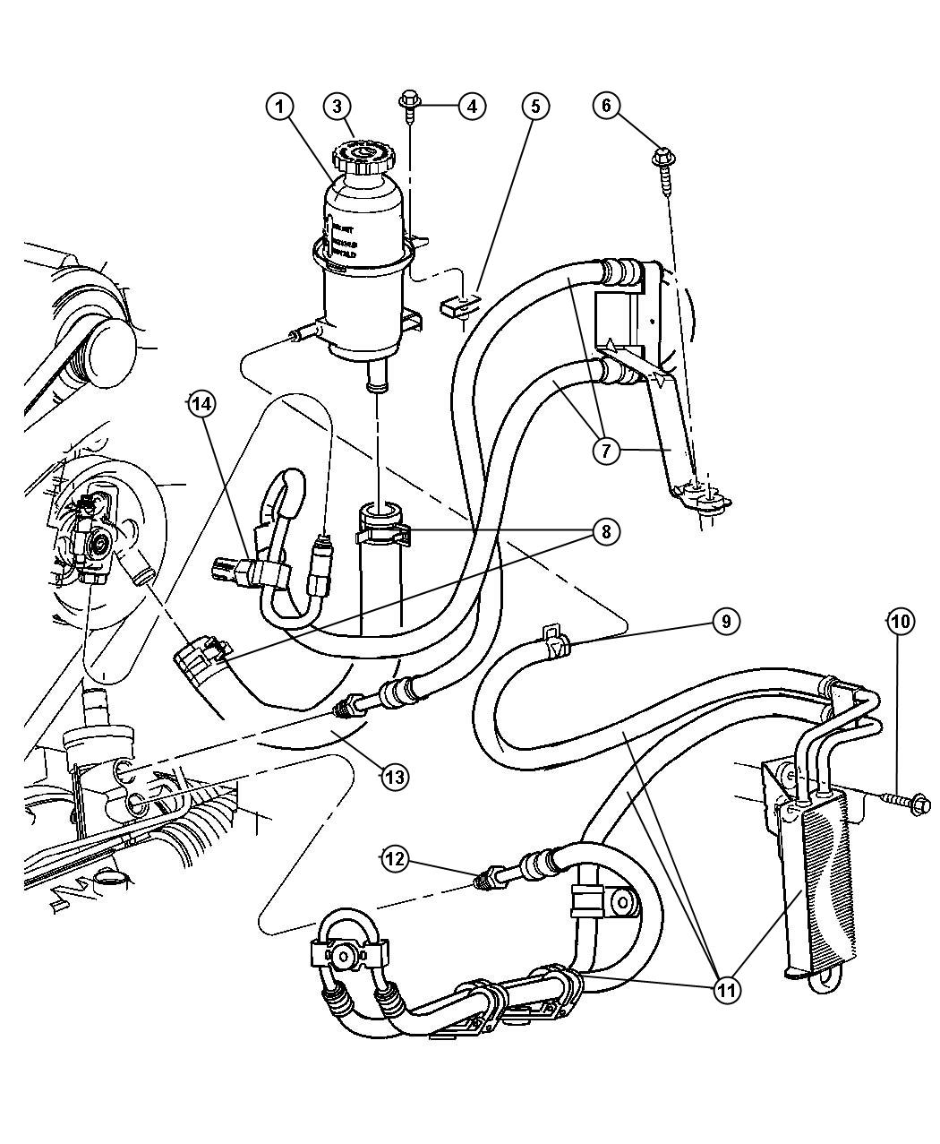 2002 chrysler pt cruiser switch power steering firm feel