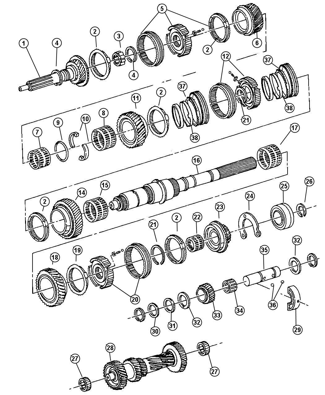 Chrysler Concorde Synchronizer. Used for: third and fourth