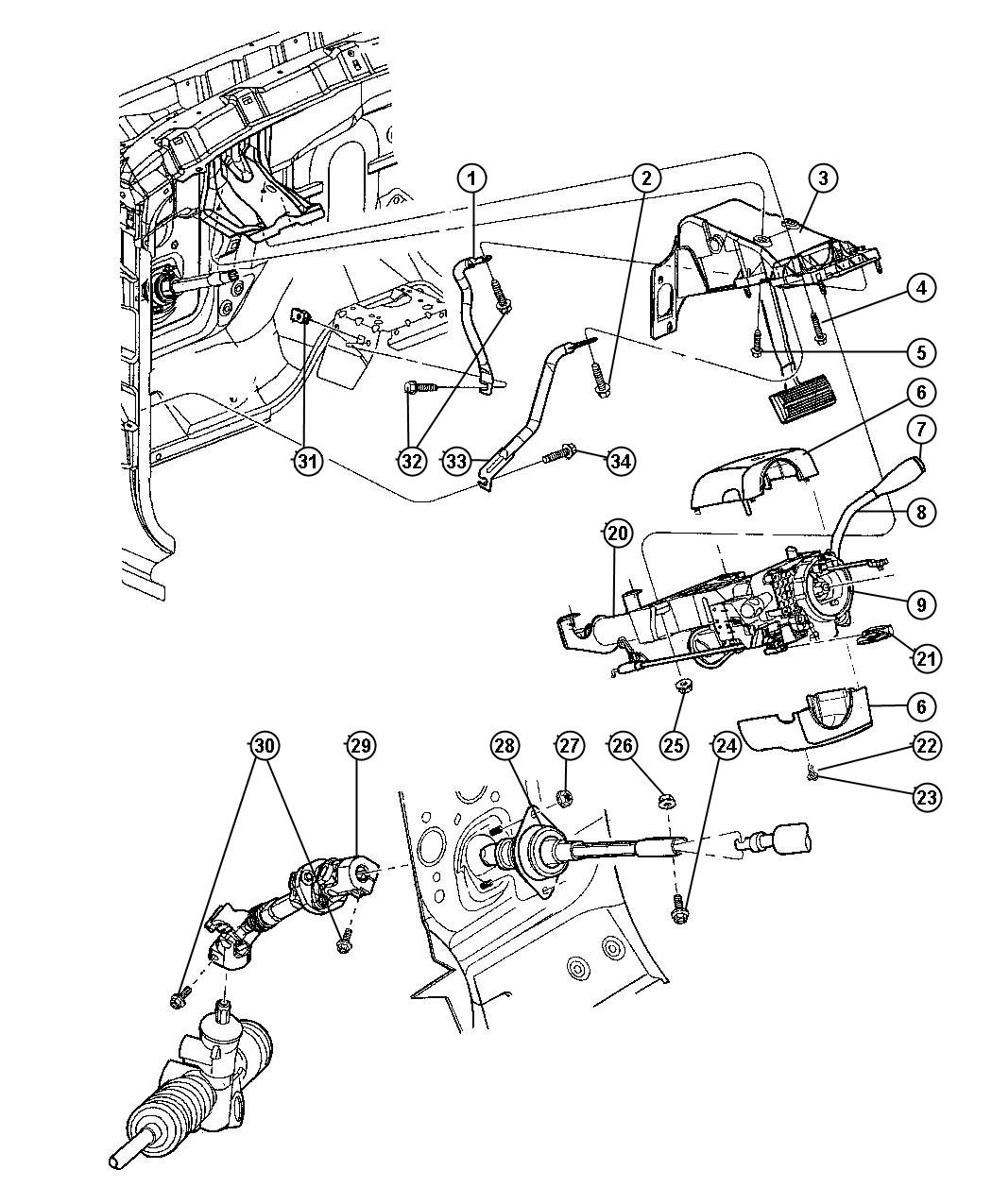 Dodge Durango Shaft Intermediate Lower Steering