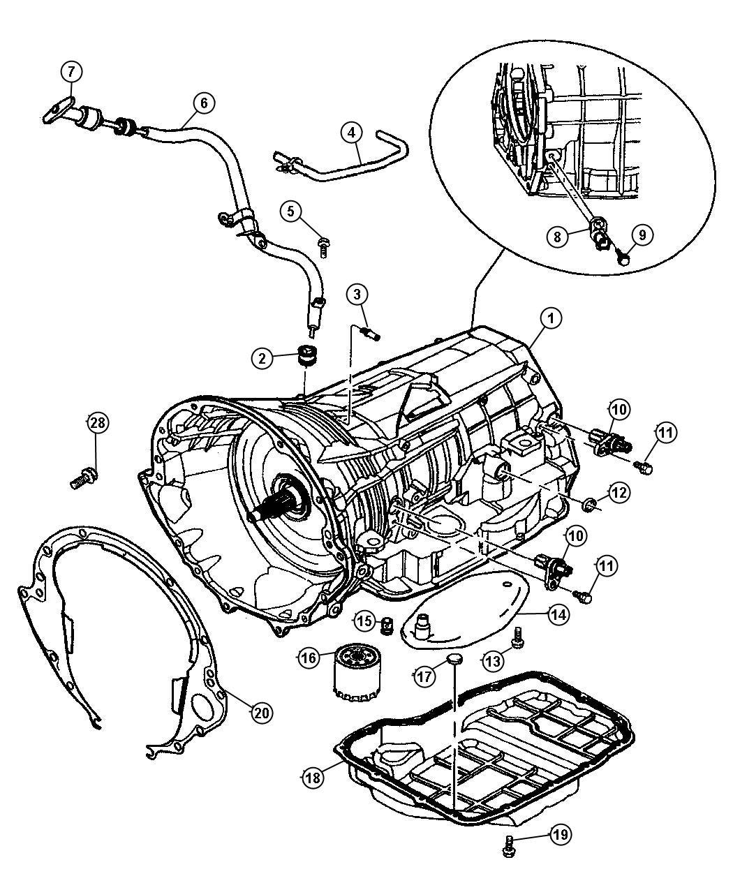 2010 Chrysler 300 Tube. Transmission oil filler. Related