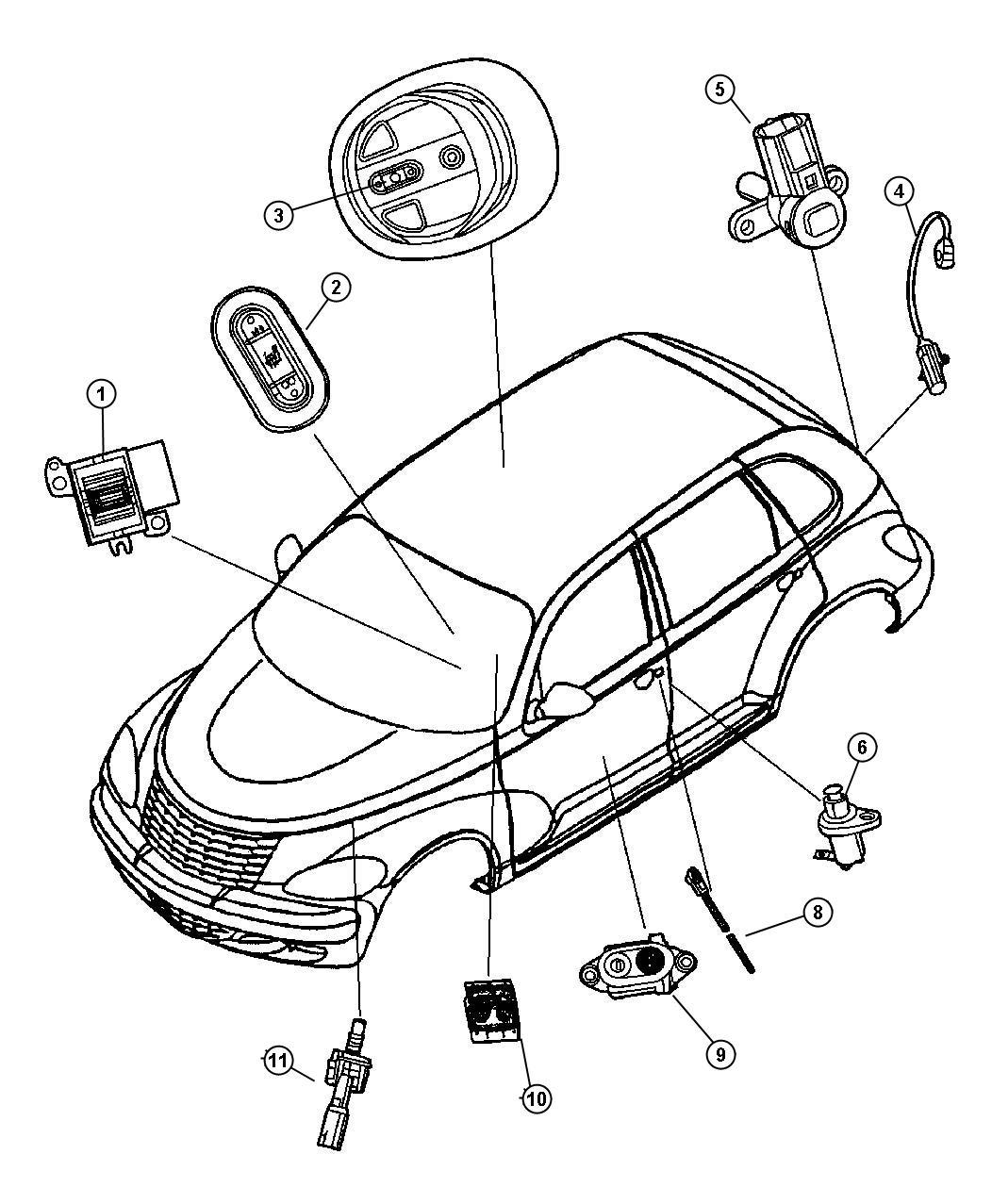 2008 Dodge Ram 5500 Switch. Liftgate. Key position