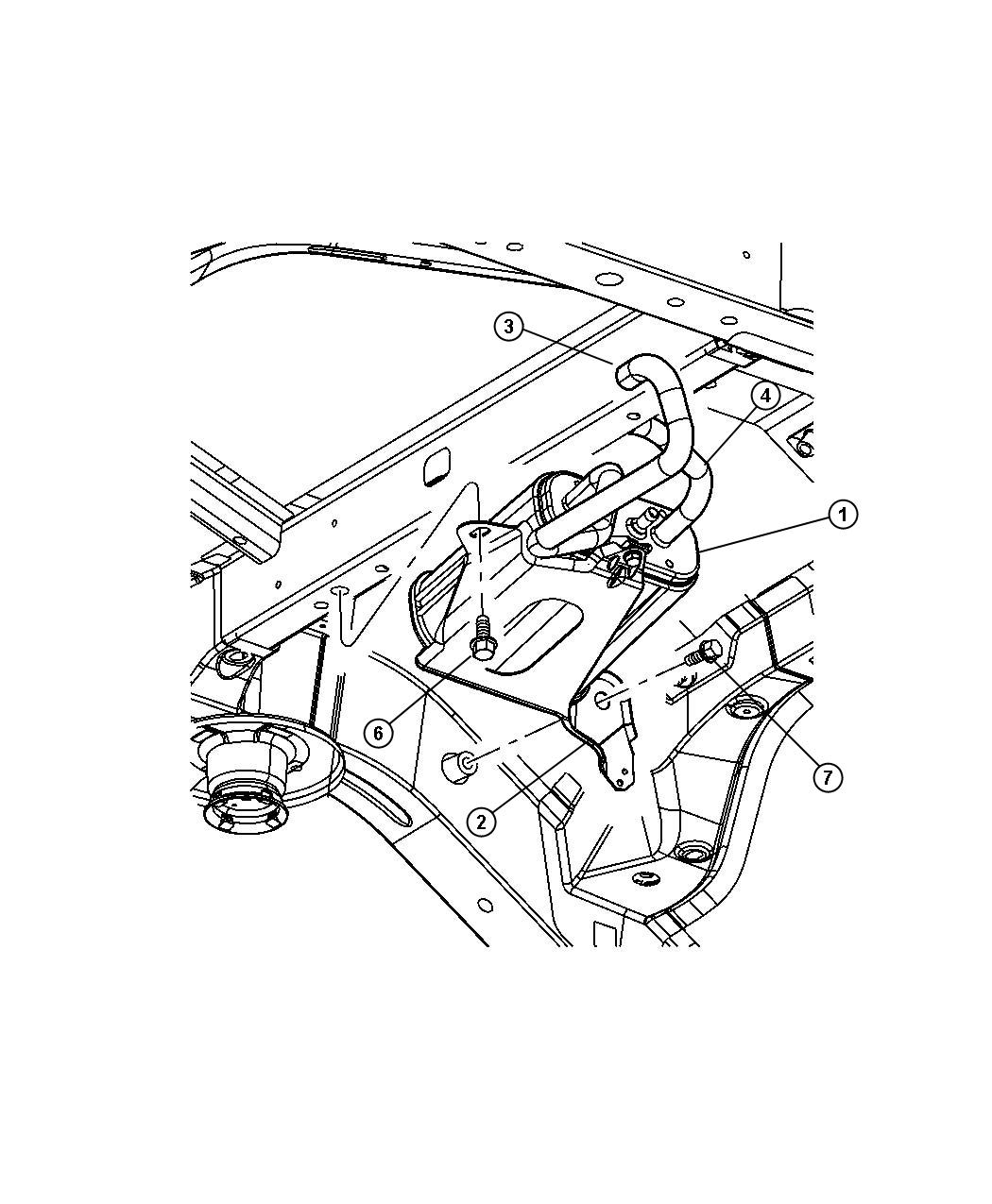 Dodge Durango Hose Canister To Ldp Engine Ekg