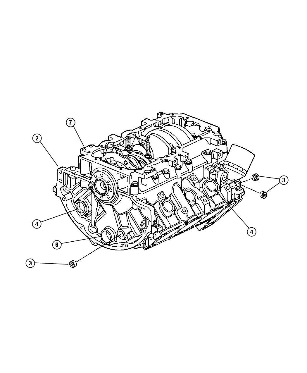 Dodge Avenger Block Short Engine Torque
