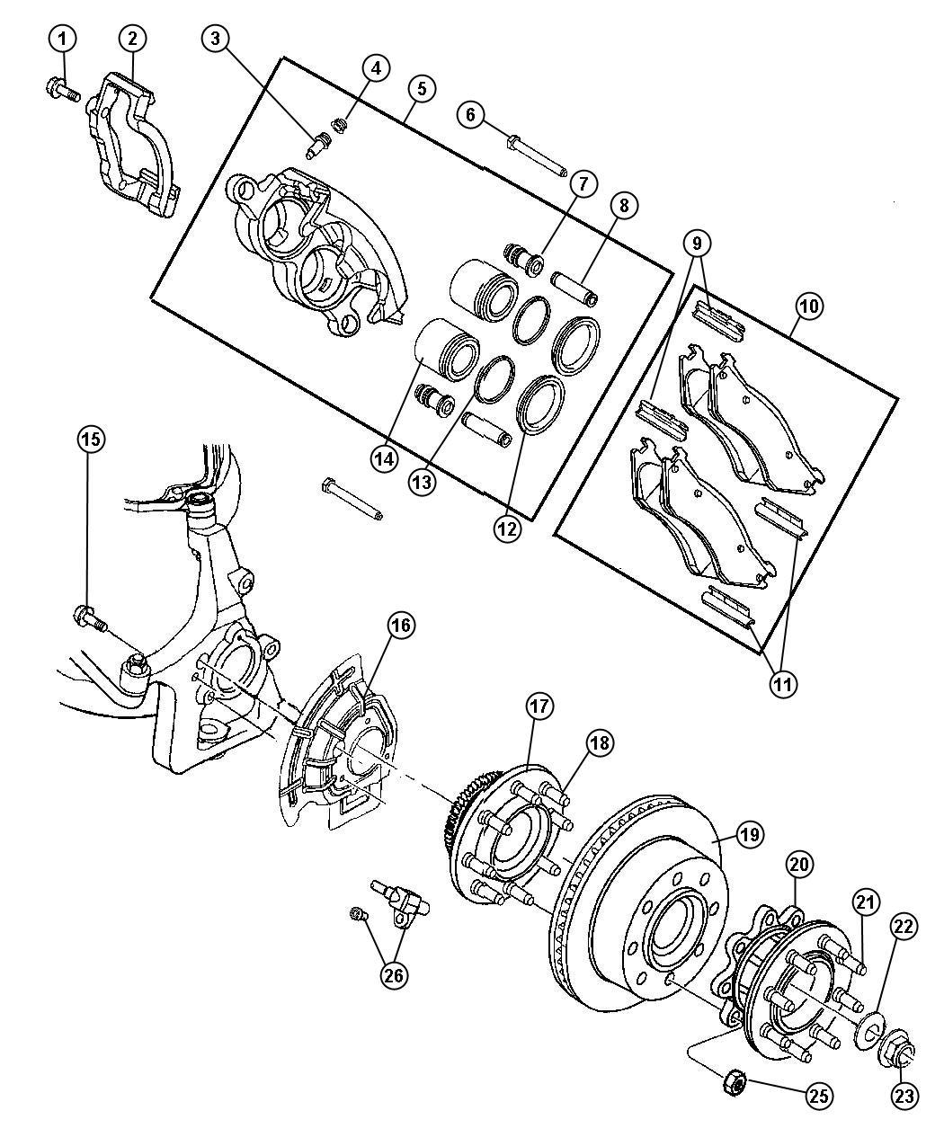 Chrysler Aspen Used For Hub And Bearing Brake