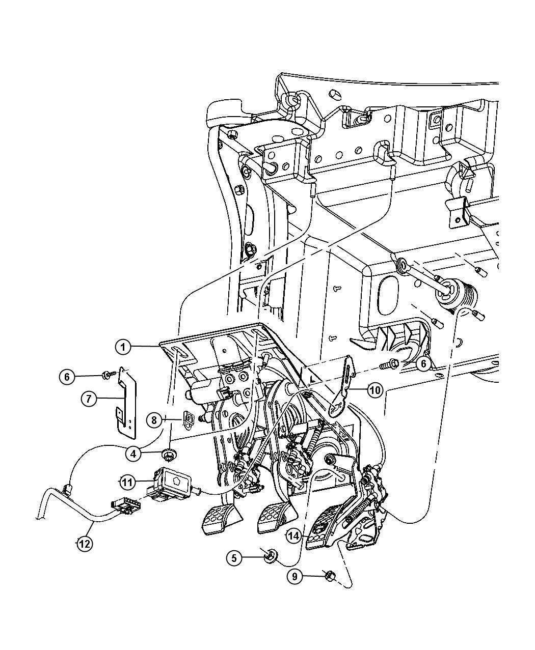 Dodge Durango Bracket. Wiring harness. Up to [08/11/03