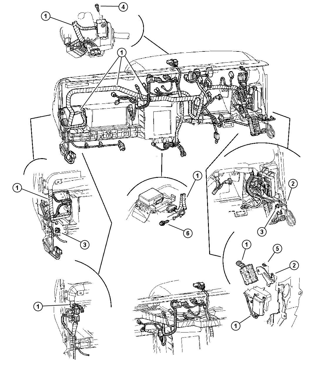 Dodge Dakota Flasher. Instrument, wiring, panel