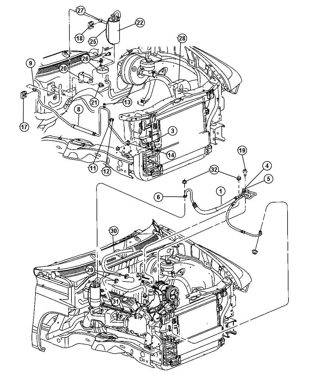 Dodge Dakota Hose Heater Supply Air Conditioning