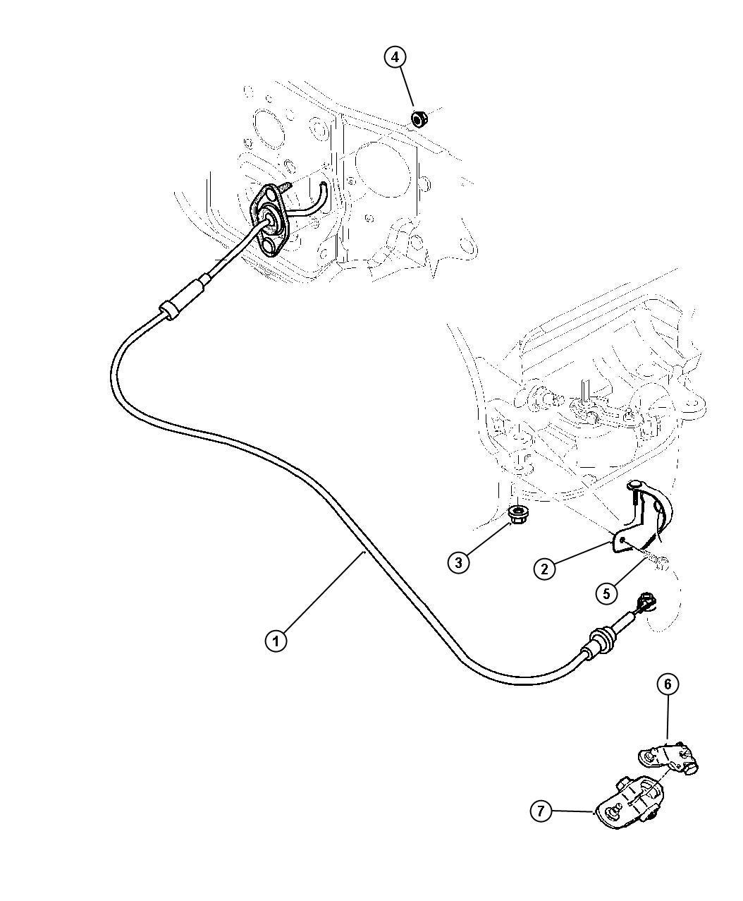 Dodge Durango Bracket Shift Cable Gearshift