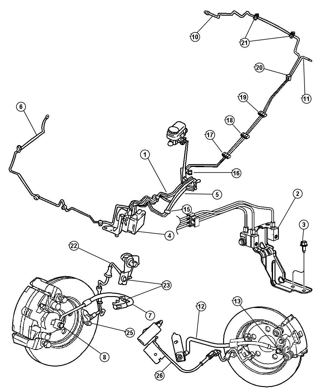 2004 Chrysler Sebring Prop valve. Brake. [brb]. Brakes