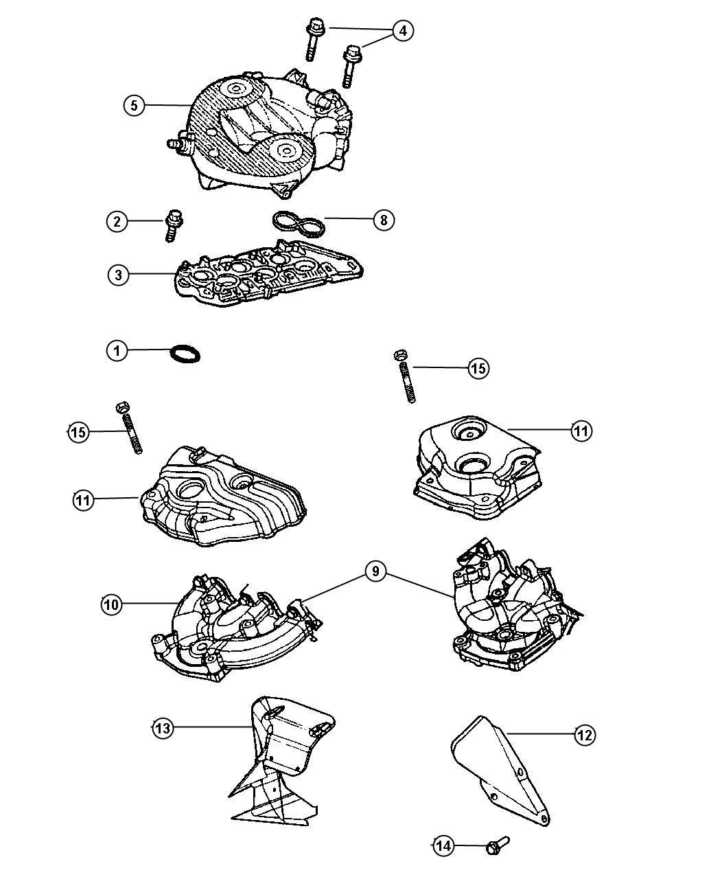 2002 Dodge Stratus Plenum. Intake manifold. [nzc], use 8