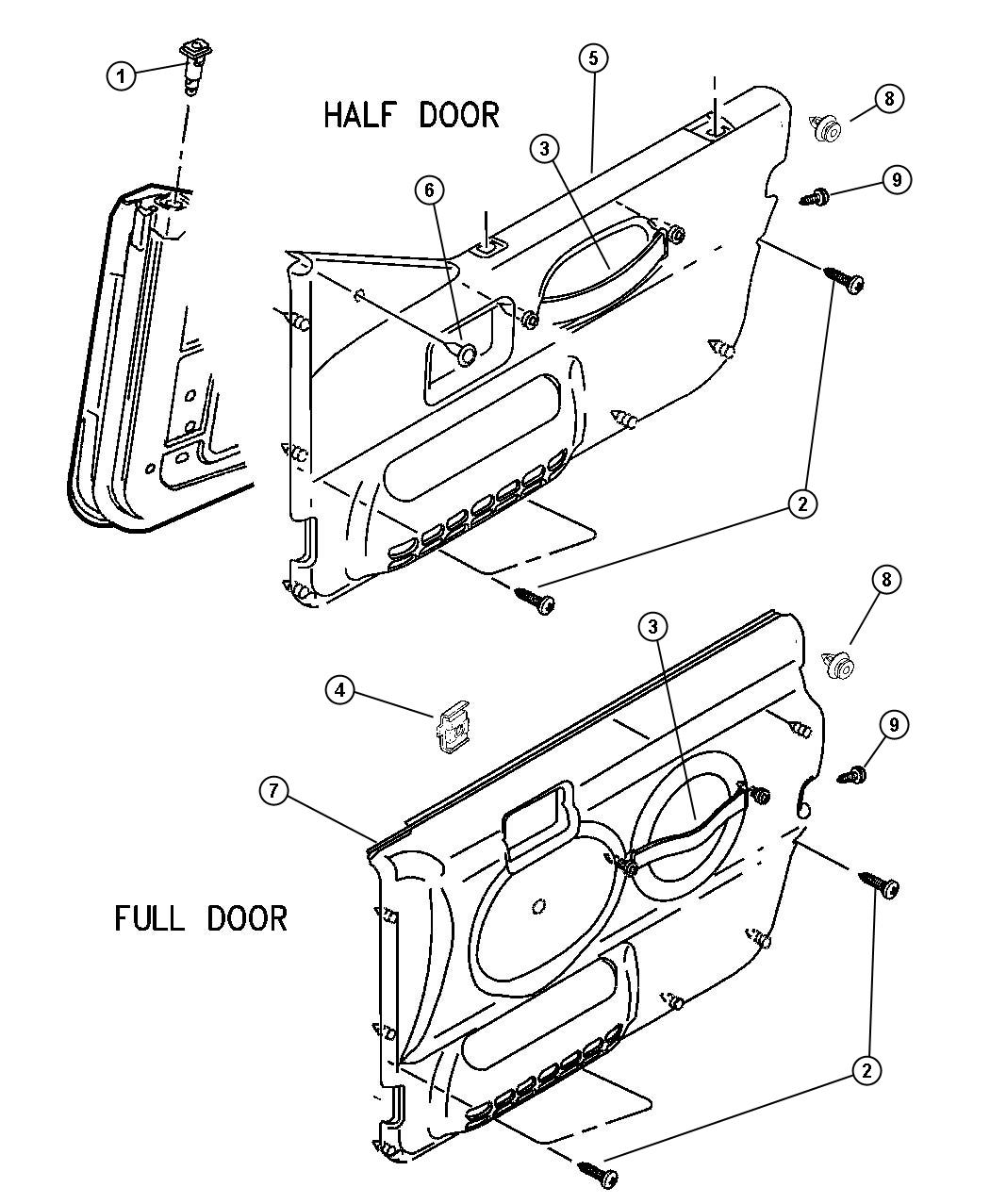 2003 Jeep Wrangler Handle. Door interior. Trim: [all trim