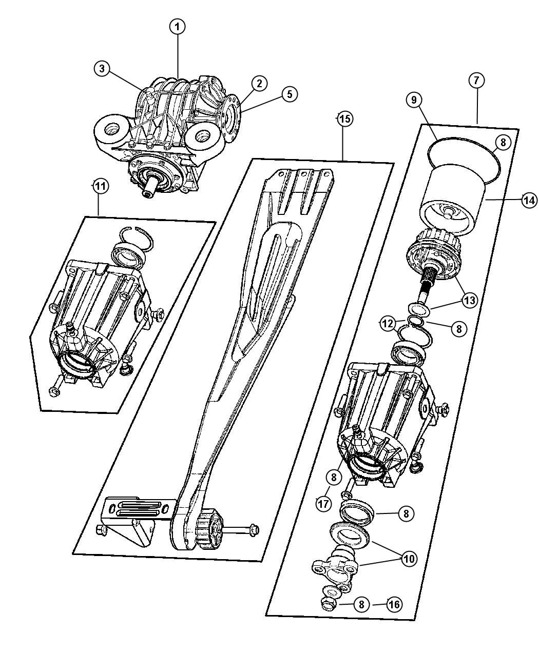 2012 Dodge Journey Vent. Cap. Rear, suspension, assembly