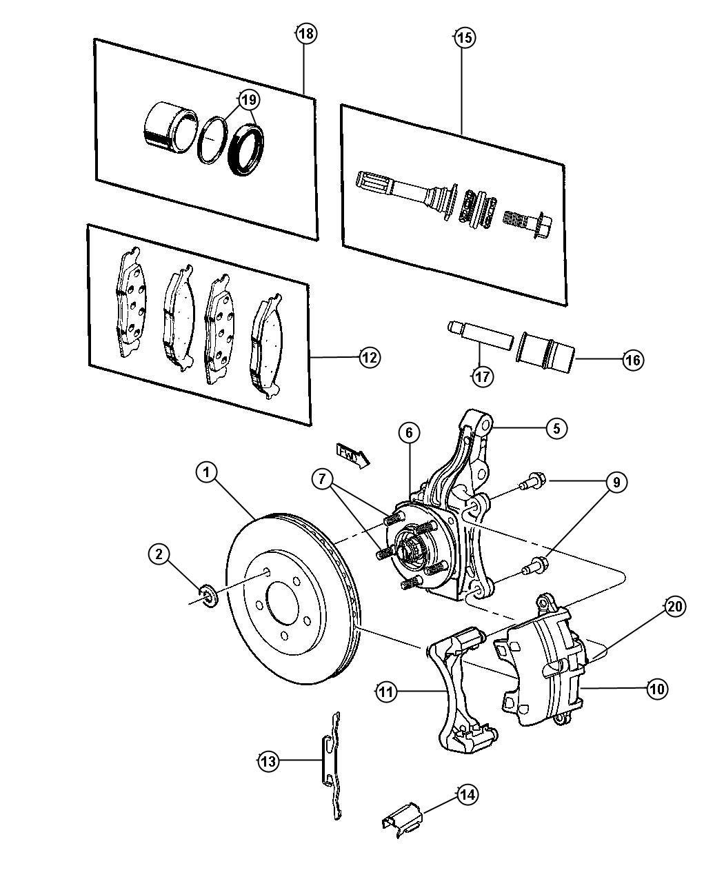 2011 Dodge Avenger Rotor. Brake. Right or left. [power