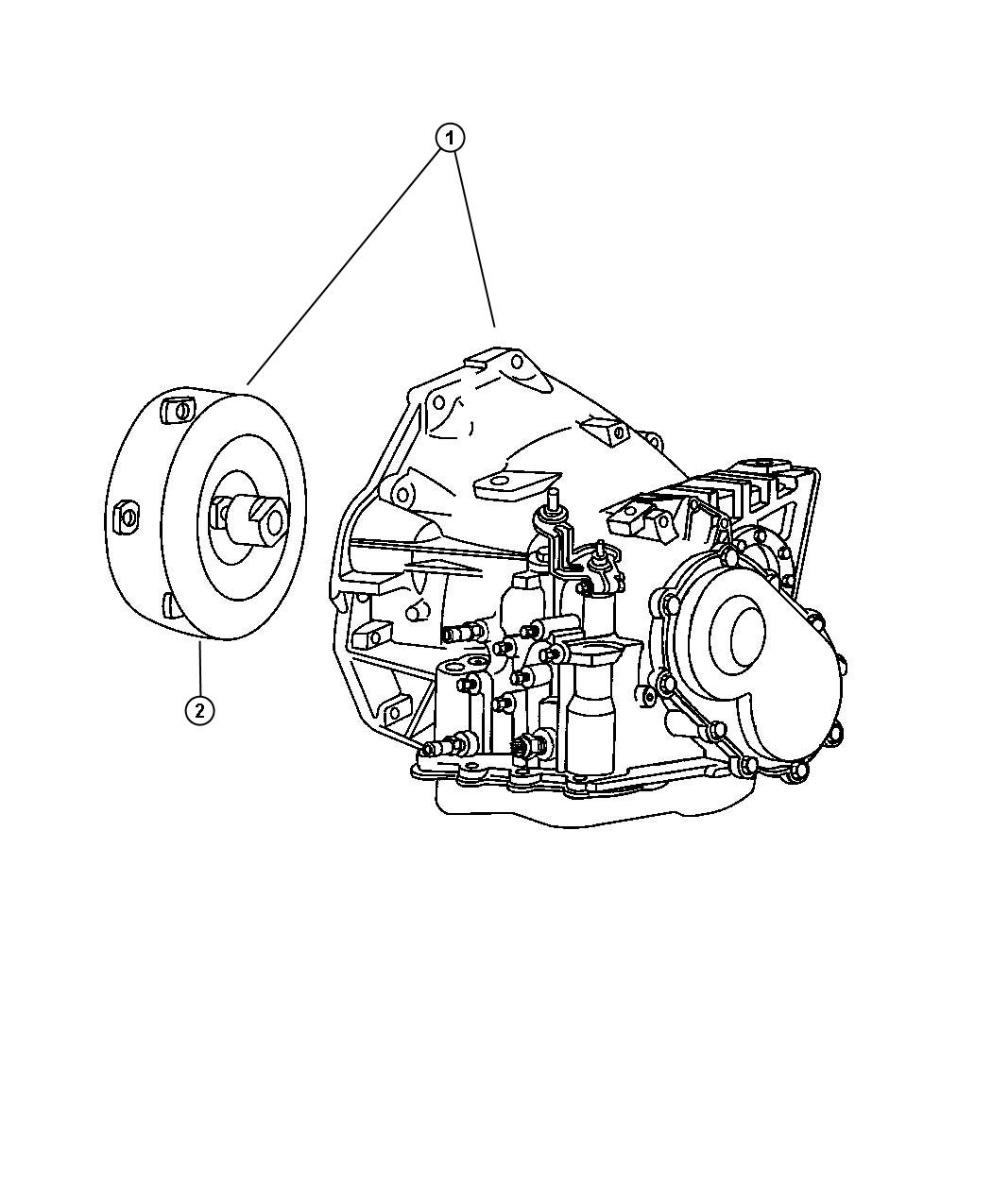 Chrysler Voyager Transaxle package. With torque converter