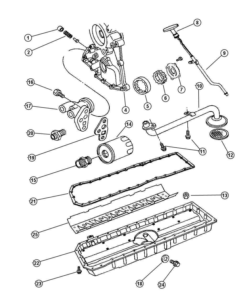 2002 Dodge Viper Adapter. Oil filter. Adapter, oil filter