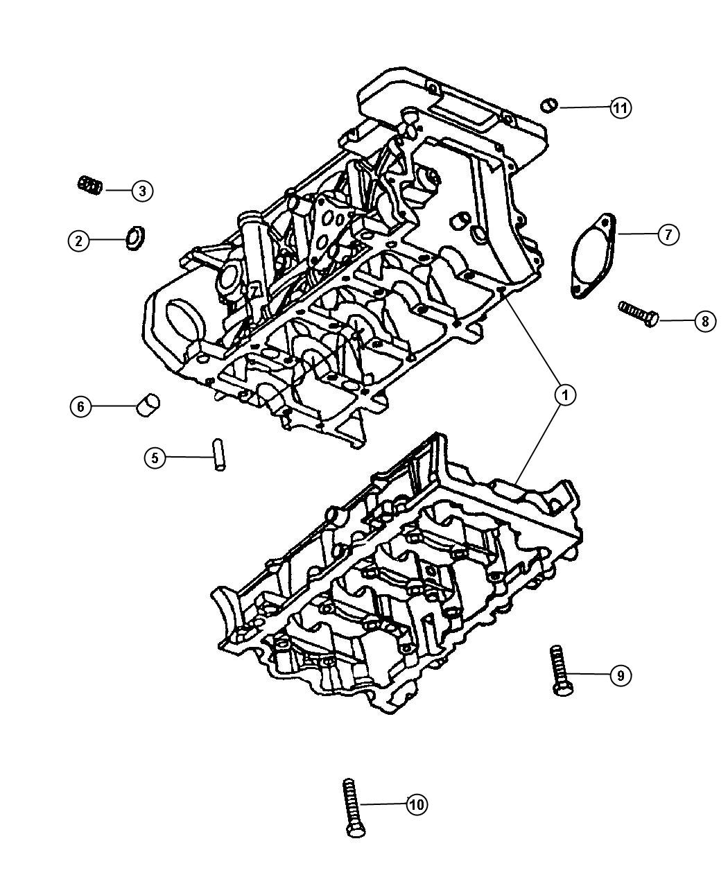 Dodge Nitro Block Engine Short Short Block Brakes