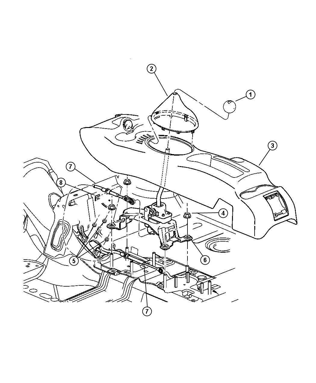 2003 Chrysler PT Cruiser Knob. Gearshift. With [shift knob