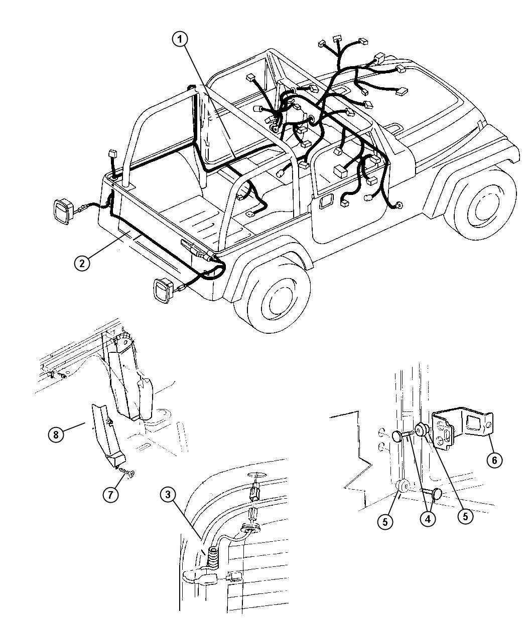 2009 Dodge NITRO Cover. Wiring protector. Body, upper