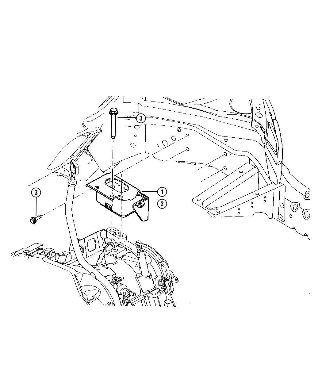 Chrysler PT Cruiser Bracket. Engine mount. Left side