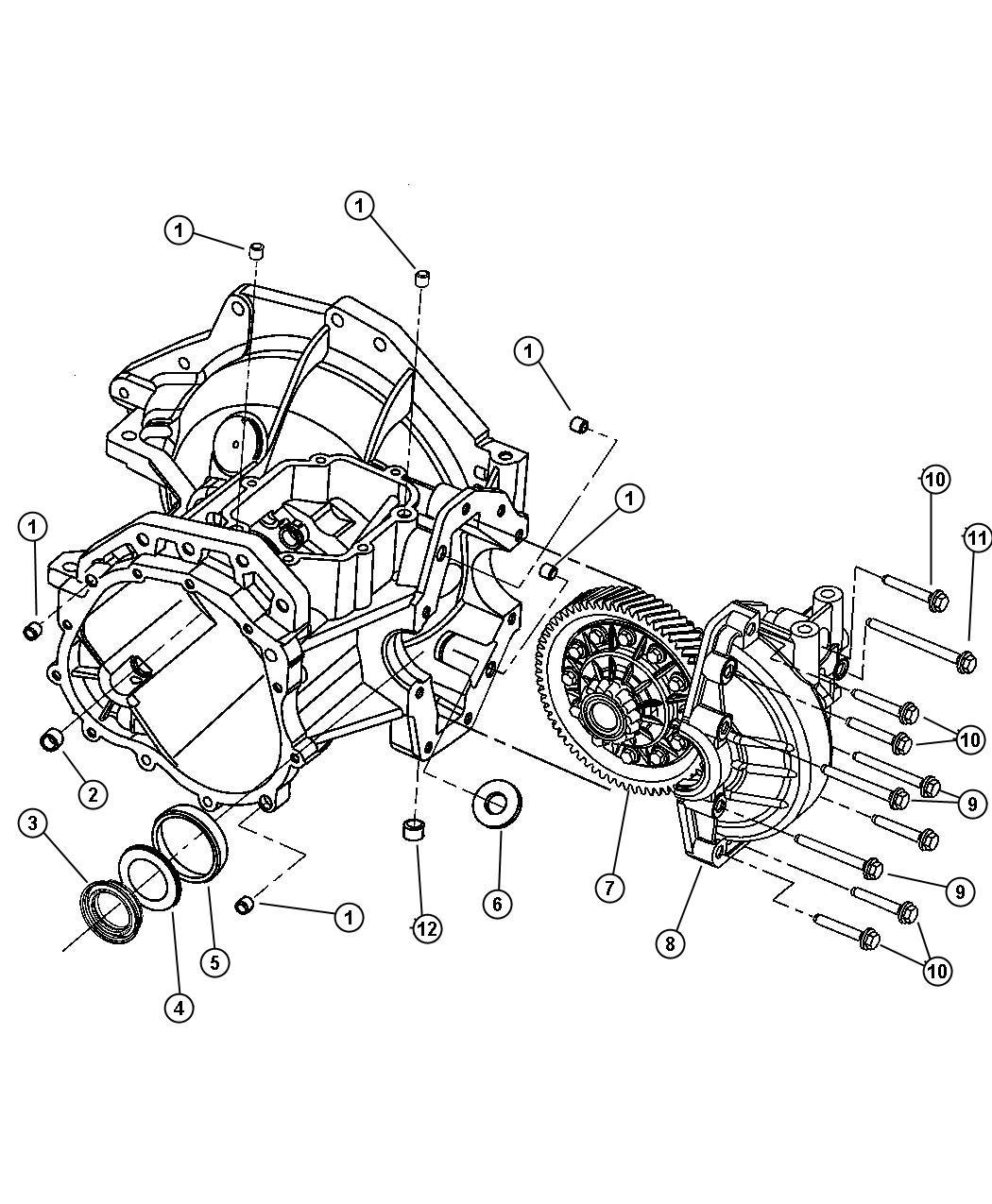 Chrysler Sebring Plug. Transmission drain. Drain & fill
