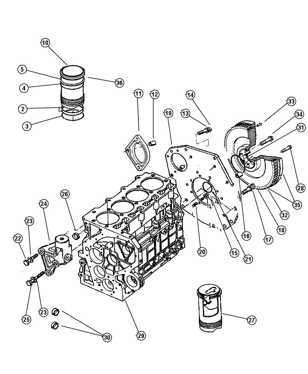 Chrysler Voyager Plug Cylinder Block Oil Hole